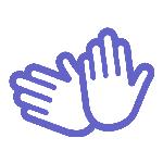 icoon voor gebarentaal