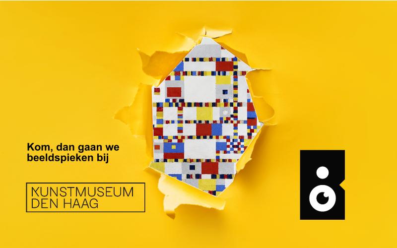 Beeldspieken in het Kunstmuseum Den Haag met een sneakpeak van de Victory Boogie Woogie van Piet Mondriaan
