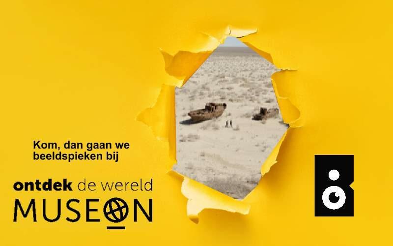 Beeldspieken in het Museon met een sneakpeak van de foto The Aral Sea van Carolyn Drke