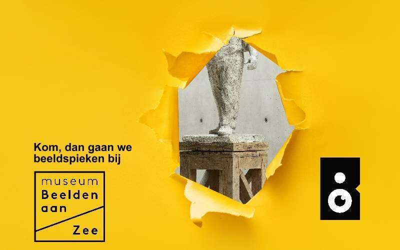 Beeldspieken in het Museum Beelden aan Zee met een sneakpeak van Dokwerker - foto Gerrit Schreurs