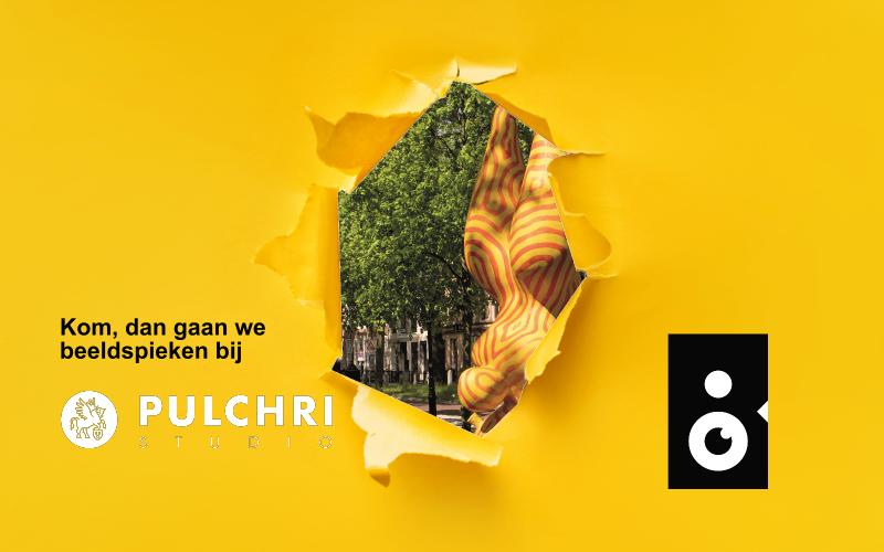 Beeldspieken bij de zomertentoonstelling van Pulchri studio's in Den Haag met een sneakpeak van Challenge for Balance