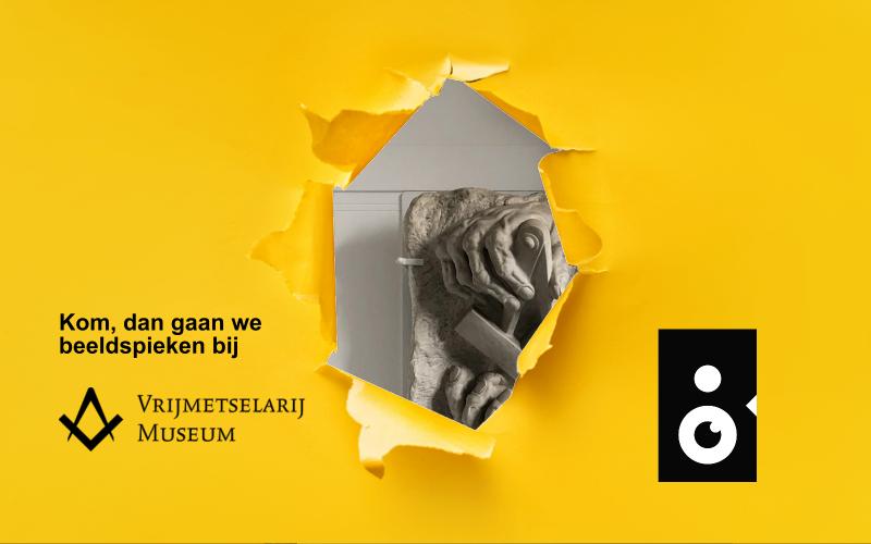 Beeldspieken bij het vrijmetselarij museum in Den Haag met een sneakpeak van heer monument voor gevallen broeders