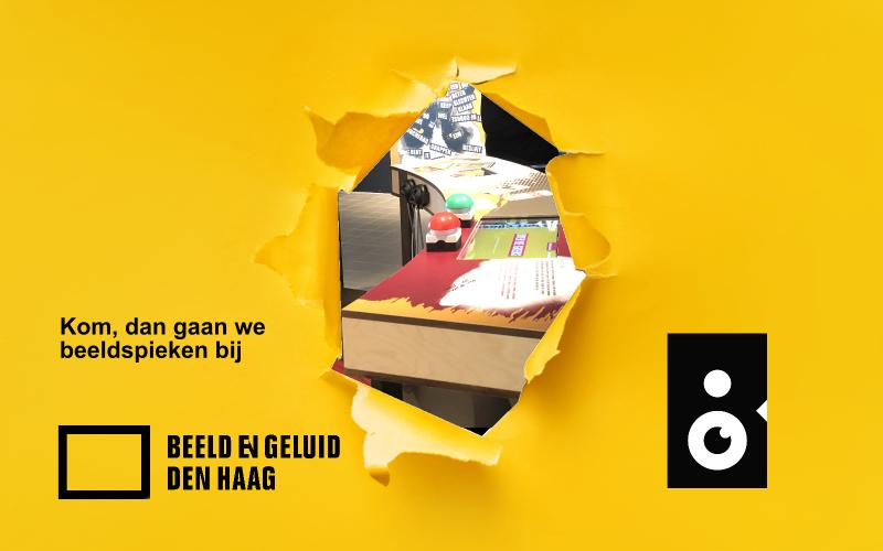 Beeldspieken in Beeld en Geluid Den Haag met een sneakpeak van het spel Over de Grens