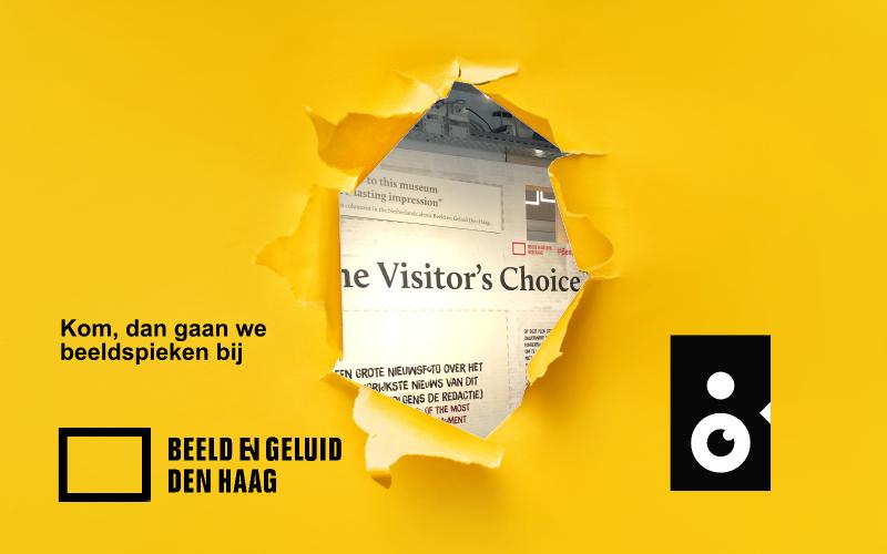 Beeldspieken in Beeld en Geluid Den Haag met een sneakpeak van het spel visitors choice