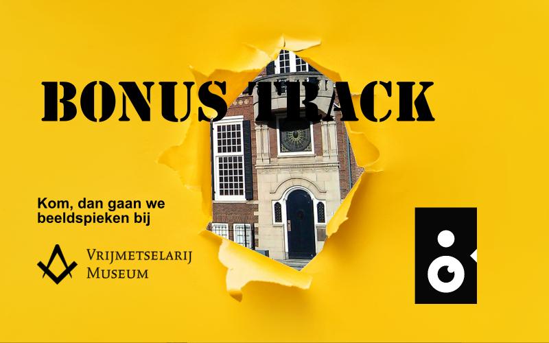 Beeldspieken bij het vrijmetselarij museum in Den Haag met een sneakpeak van het gebouw
